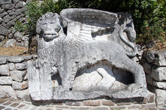 Stone lion Stock Photos