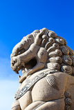 Stone lion Royalty Free Stock Photos