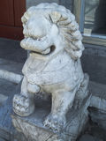 Stone lion. China  traditional Carving Stock Photography