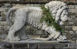 Free Stone Lion Royalty Free Stock Photography - 81507837