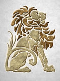 Stone lion architectural motif royalty free stock images