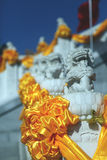 Stone lion balustrade. Some stone lion balustrades in china Royalty Free Stock Photography