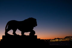 Stone lion Royalty Free Stock Photo