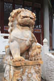 Stone lion of baoen temple Royalty Free Stock Photo