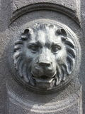 Stone lion. In brussels Stock Photos