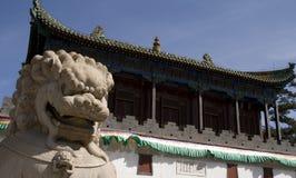 Stone lion of china Royalty Free Stock Photo