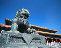 Stone lion of china Royalty Free Stock Photo