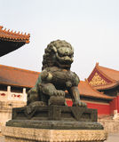 Stone lion of china Royalty Free Stock Photography