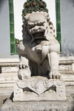 Stone lion. China Beijing ancient building in front of the stone lion Stock Photos