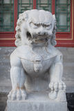 Stone lion Royalty Free Stock Photo