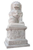Stone lion. In Chinese style on white Royalty Free Stock Photo