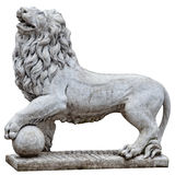 Stone lion. Clipping patch. Stock Photos