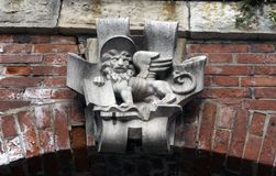 Stone Lion Crest at the facade in Venice Royalty Free Stock Photo
