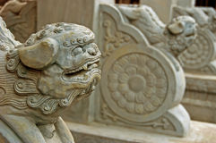 Stone lion gate keeper Royalty Free Stock Image