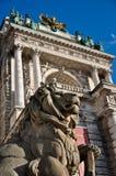 Stone lion guard Royalty Free Stock Image