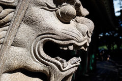 Stone lion head - Closeup royalty free stock image