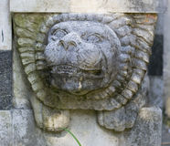 Stone Lion Head Decoration Royalty Free Stock Photos