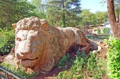 Stone lion, Ifrane, Morocco Royalty Free Stock Image