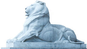 Stone lion isolated Stock Photography