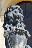 Stone lion of Koenigsberg. Kaliningrad (Konigsberg before 1946), Royalty Free Stock Photos