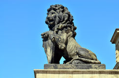 Stone lion of Koenigsberg Stock Image