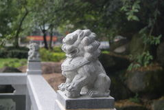 Stone lion Stock Images