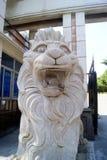 The stone lion Stock Photos