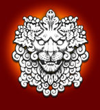 Stone lion motif Royalty Free Stock Photos