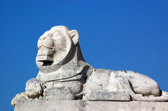 Stone lion, Portsmouth Naval Memorial Stock Images