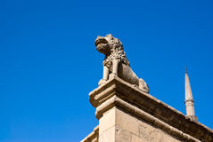 Stone lion of Saladin Citadel at Cairo Egypt Royalty Free Stock Images