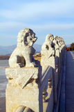 Stone lion sculpture Royalty Free Stock Photography