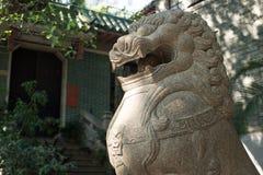 Stone lion sculpture Stock Image