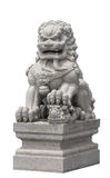 Stone lion sculpture Chinese style Stock Photo