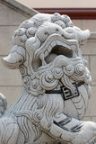 Stone lion sculpture. Royalty Free Stock Image