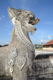 Stone Lion Sculpture. In front of Pratartlampangluang temple in Lampang ,Thailand Royalty Free Stock Photography