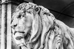 Stone lion sculpture in Munich Stock Photo