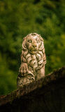 A stone lion scuplture in a Romanian town Stock Photography