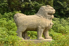 Stone Lion - Song Dynasty Tombs, Gongyi, China. Stone Lion  at the North Song Dynasty Imperial Tombs, Gongyi, Henan, China Royalty Free Stock Photo