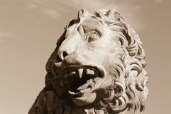 Stone Lion, Stanley Park in Blackpool, Lancashire, uk Royalty Free Stock Photos