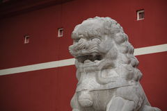 Stone lion statue Royalty Free Stock Images