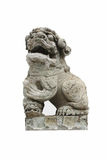 Stone lion statue. With a white background Stock Photos
