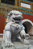 The stone lion statue Stock Photography