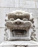 Stone Lion statue in Hong Kong Stock Photography