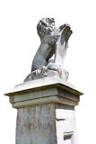 Stone lion statue isolated Stock Image