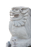 Stone lion statue isolation background Stock Photo