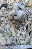 The stone lion statue Stock Photo