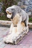 Stone lion statue Royalty Free Stock Photo