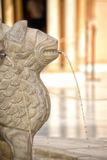 Stone lion water fountain Stock Photo