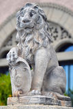 The stone lion Stock Photography