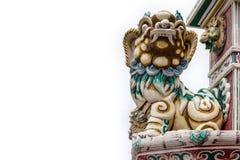 Stone Lion on white background Stock Image